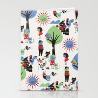 Beautiful day pattern Stationery Cards
