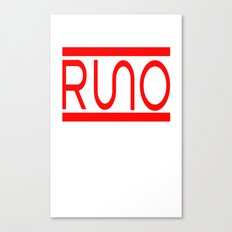 Rue Nothing RUNO Logo Red Canvas Print