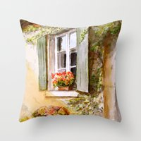 A Window In Hungary Throw Pillow