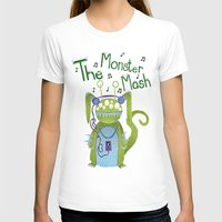 The Monster Mash Womens Fitted Tee White SMALL