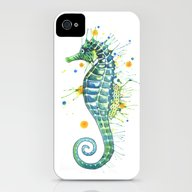 iPhone & iPod Case featuring Seahorse: Green by Sam Nagel