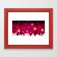 Hell Tale Pink. Framed Art Print