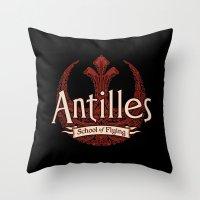 Antilles School of Flying Throw Pillow