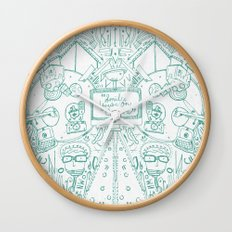smile you're on camera Wall Clock