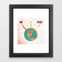 Low On Peace Framed Art Print