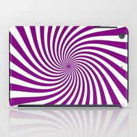 Swirl (Purple/White) iPad Case