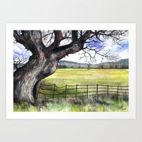 English Countryside Art Print