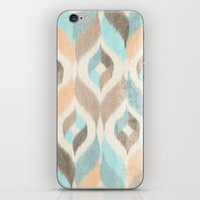 Soothing Waves Ikat iPhone & iPod Skin