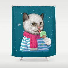 Ice cream & Snow Shower Curtain