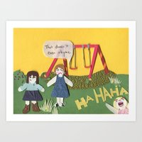 I Am Right, You Are Wron… Art Print