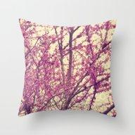 Abstract Spring Botanica… Throw Pillow