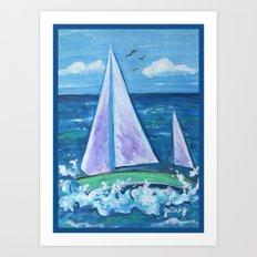 Sail Boat Art Print