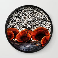 Mushrooms Wall Clock