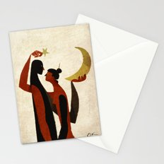 celestial bodies Stationery Cards