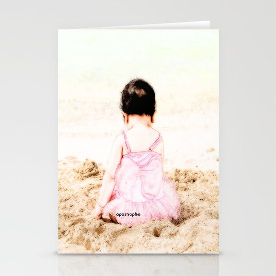 Baby at Beach Stationery Card