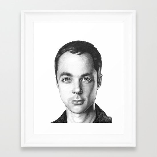 Sheldon Cooper Framed Art Print