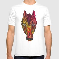The Horse SMALL White Mens Fitted Tee
