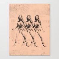 Raquel Welch in Triplicate Canvas Print