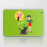 Laptop & iPad Skin featuring Don't Touch It! by BATKEI