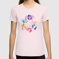 Mane Six 2 Womens Fitted Tee Light Pink SMALL