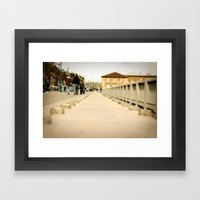 Walking Down The Embarca… Framed Art Print