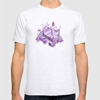Den of the Headless Lion in Purple and Lavender Mens Fitted Tee Ash Grey SMALL