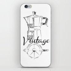 Coffee pot blueprint sketch  iPhone & iPod Skin