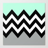 DOUBLE COLORBLOCK CHEVRO… Canvas Print