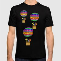 Traveling in style  Mens Fitted Tee Black SMALL