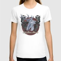 My Deer Friend / Version… Womens Fitted Tee White SMALL