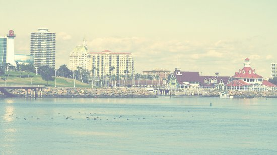 Seaside ~ Long Beach ~ California Art Print
