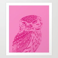 Pinkowl Art Print