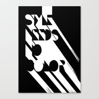 Style Needs No Color Canvas Print