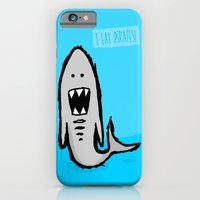 iPhone & iPod Case featuring I eat pirates by Monkey Chow