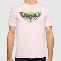 Moth And Moon Mens Fitted Tee Light Pink SMALL