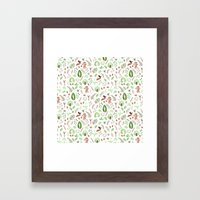 Nature Pattern Framed Art Print