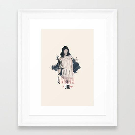 Nasty Girl Framed Art Print