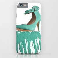 iPhone & iPod Case featuring Dripping Green Shoe by Jackie Lalumandier
