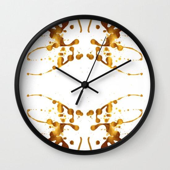 Symmetria Gold 1 Wall Clock