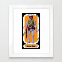 Boba Fett Beach Towel Framed Art Print
