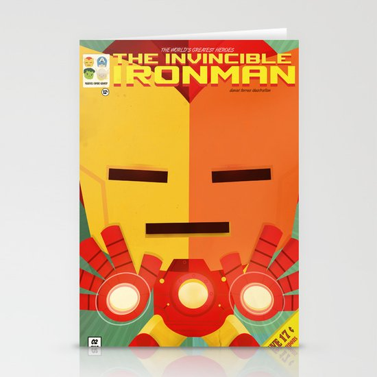 ironman fan art Stationery Card