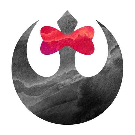 Star Wars Rebel Bow Art Print