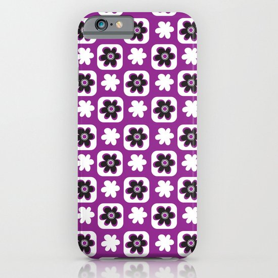 purple flower iPhone & iPod Case