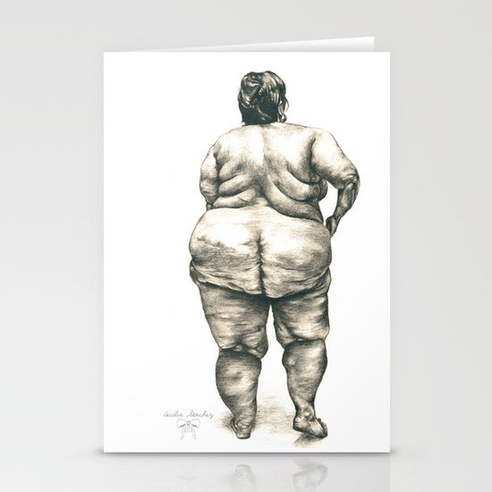 mujer en la ducha Stationery Card