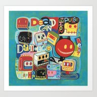Art Print featuring Dead Can Dance  by Exit Man