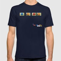 P.S. I Fly  Mens Fitted Tee Navy SMALL