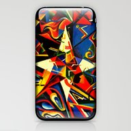 Intermixing Color Star  iPhone & iPod Skin