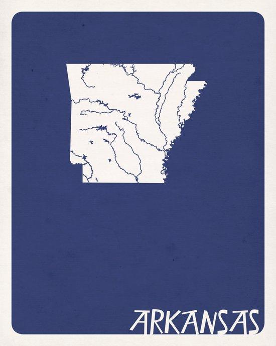 Arkansas Minimalist Vintage Map Art Print