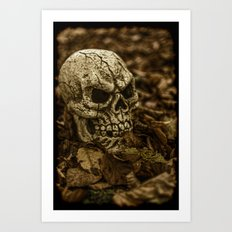 Halloween Skull 2 Art Print