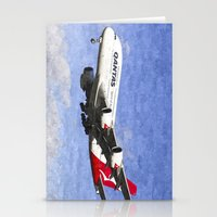 Qantas Airbus A380 Art Stationery Cards